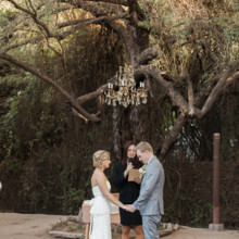 "<strong class='info-row'>lisa d. Photography</strong> <div class='info-row description'><html>  <head></head>  <body>    A crystal chandelier hung from the trees and served as an altar during the ceremony.   Venue:   <a href=""https://www.weddingwire.com/reviews/whispering-tree-ranch/538664c81ed617fd.html"" target=""_blank""> Whispering Tree Ranch </a>      </body> </html></div>"