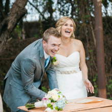 "<strong class='info-row'>lisa d. Photography</strong> <div class='info-row description'><html>  <head></head>  <body>    After the ceremony, the newlyweds's signed their marriage certificate to make it official!   Venue:   <a href=""https://www.weddingwire.com/reviews/whispering-tree-ranch/538664c81ed617fd.html"" target=""_blank""> Whispering Tree Ranch </a>      </body> </html></div>"