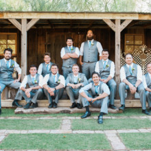 "<strong class='info-row'>lisa d. Photography</strong> <div class='info-row description'><html>  <head></head>  <body>    Kevin and his groomsmen looked dapper in gray three-piece suits accessorized with blue neckties.   Venue:   <a href=""https://www.weddingwire.com/reviews/whispering-tree-ranch/538664c81ed617fd.html"" target=""_blank""> Whispering Tree Ranch </a>      </body> </html></div>"