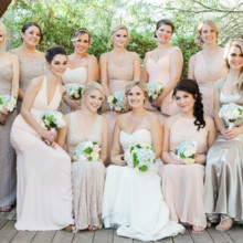 "<strong class='info-row'>lisa d. Photography</strong> <div class='info-row description'><html>  <head></head>  <body>    Bridesmaids looked lovely in neutral, gold and blush dresses.   Venue:   <a href=""https://www.weddingwire.com/reviews/whispering-tree-ranch/538664c81ed617fd.html"" target=""_blank""> Whispering Tree Ranch </a>      </body> </html></div>"