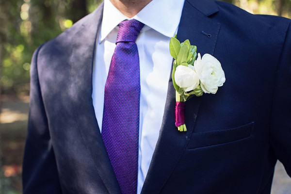Blue Purple Boutonniere Country Destination Fall Michigan Wedding ...