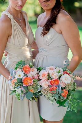 Peach Oregon Barn Wedding , Wedding Real Weddings Gallery ...