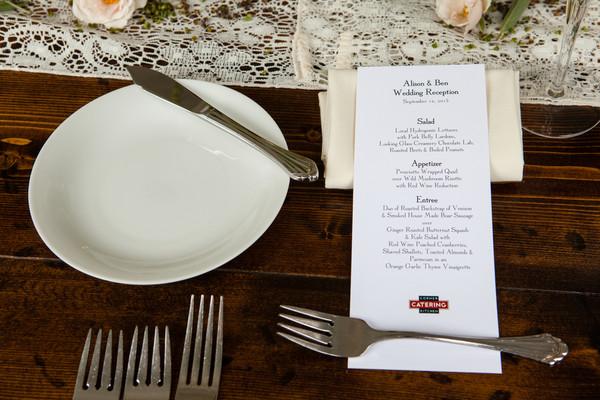 Romantic Vintage White Fall Garden Menu Cards North Carolina Place ...
