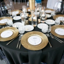 """<strong class='info-row'>Pond Photography</strong> <div class='info-row description'><html>  <head></head>  <body>    The tables were adorned with black linens and gold plates to enhance the glam aesthetic of the day.     <span class=""""s1"""">Reception Venue: <a href=""""https://www.weddingwire.com/biz/the-brass-on-baltimore-kansas-city/38e651de12a08110.html""""><span class=""""s2"""">Brass on Baltimore</span></a></span>     <span class=""""s1"""">Event Planner: <a href=""""https://www.weddingwire.com/biz/madison-sanders-events-liberty/bfd7956686c7ed3d.html""""><span class=""""s2"""">Madison Sanders Events</span></a></span>  Rentals:    <a href=""""https://www.weddingwire.com/biz/bbj-linen-lake-orion/e9907158f5762e8c.html""""><span class=""""s2"""">BBJ Linen</span></a>     <span class=""""s3"""">Caterer: <a href=""""https://www.weddingwire.com/reviews/brancatos-catering-kansas-city/c5ffba89f2156c40.html""""><span class=""""s2"""">Brancatos Catering</span></a></span>   </body> </html></div>"""