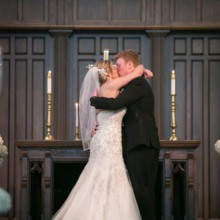 """<strong class='info-row'>Pond Photography</strong> <div class='info-row description'><html>  <head></head>  <body>    The couple shared their first kiss as husband and wife in front of 90 family members and friends.     <span class=""""s1"""">Ceremony Venue: Country Club United Methodist Church</span>     <span class=""""s2"""">Event Planner: <a href=""""https://www.weddingwire.com/biz/madison-sanders-events-liberty/bfd7956686c7ed3d.html""""><span class=""""s3"""">Madison Sanders Events</span></a></span>     <span class=""""s2"""">Bridal Gown: <a href=""""https://www.weddingwire.com/biz/bridal-extraordinaire-shawnee/c84c47ee18d66085.html""""><span class=""""s3"""">Bridal Extraordinaire</span></a></span>  Men's Attire:    <a href=""""https://www.weddingwire.com/biz/tip-top-tux/8d53ccb748d3df8f.html""""><span class=""""s2"""">Tip Top Tux</span></a>   </body> </html></div>"""