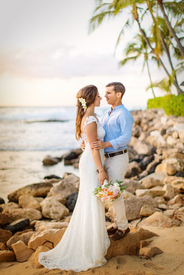 Traditional Hawaii Beach Wedding. Gaby U0026 Alan