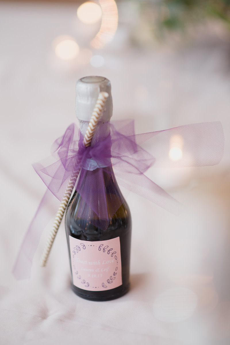 Fantastic Mini Champagne Wedding Favors Crest - The Wedding Ideas ...