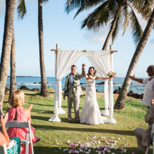 "<strong class='info-row'>Joanna Tano Photography</strong> <div class='info-row description'><html>  <head></head>  <body>    It's official!   Venue: White Orchid Beach House from    <a href=""https://www.weddingwire.com/biz/a-white-orchid-wedding-inc-wailuku/613a4afe72f6cb8d.html"" target=""_blank"">A White Orchid Wedding, Inc.</a>  Hair and Makeup: Maui Beautiful Brides  Floral Design:    <a href=""https://www.weddingwire.com/reviews/teresa-sena-designs-kula/e68fec6403a0ee30.html"" target=""_blank"">Teresa Sena Designs</a>  Officiant:    <a href=""https://www.weddingwire.com/reviews/reverend-alapaki-terry/a51f1c38de47ddae.html"" target=""_blank"">Reverend Alapaki Terry</a>   </body> </html></div>"