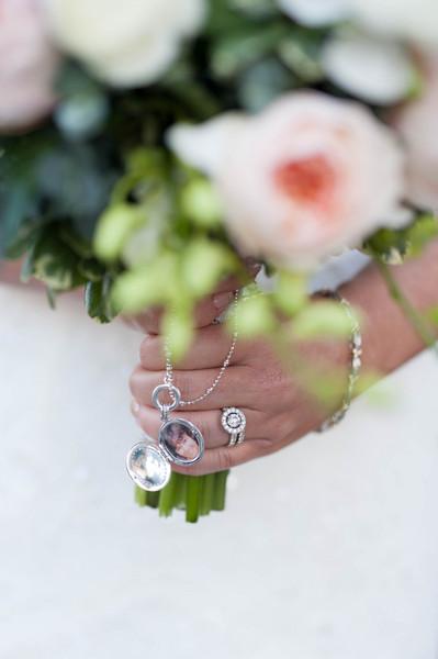 Modern Romantic Rustic Green Pink Silver White Bouquet Bracelet
