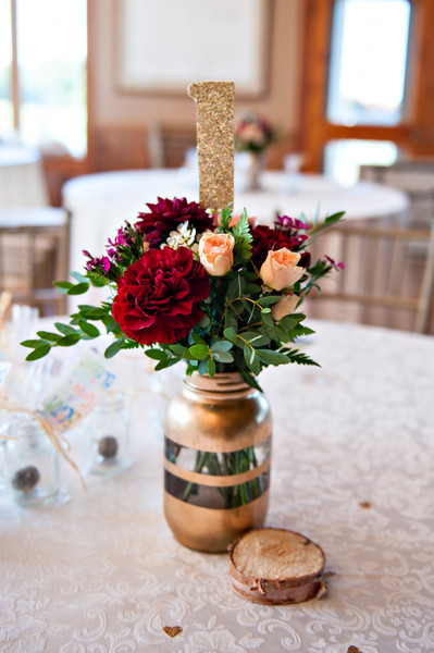 Burgundy and gold wedding photography