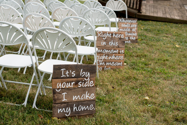 Informal Romantic Rustic Shabby Chic Vintage Aisle Markers