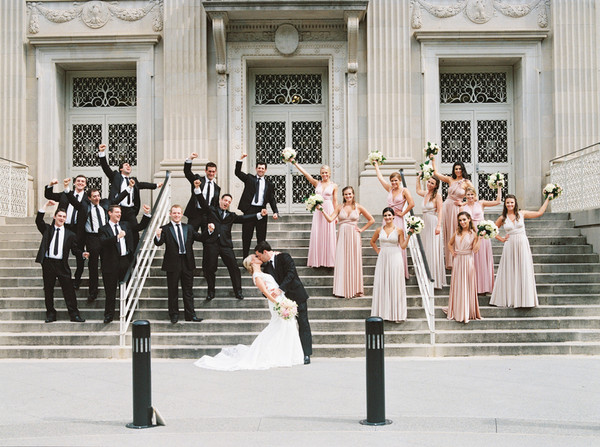 Classic Formal Modern Black Gold Gray Pink White Bouquet House of ...