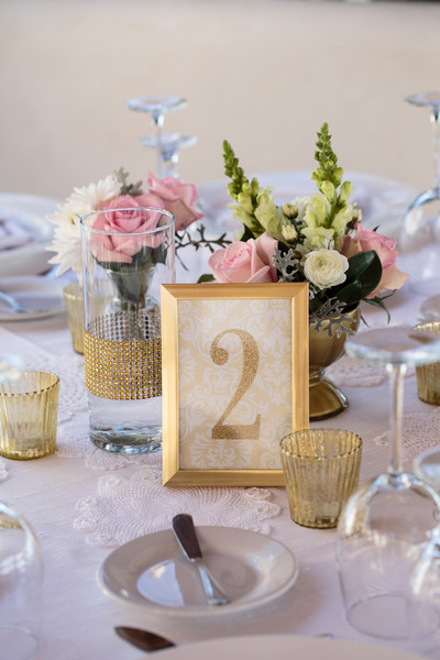 Beach Shabby Chic Gold Pink Beach Centerpiece Central America - Table numbers restaurant supplies