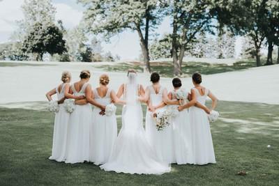 Classic michigan club wedding wedding real weddings for Wedding dresses in kalamazoo mi