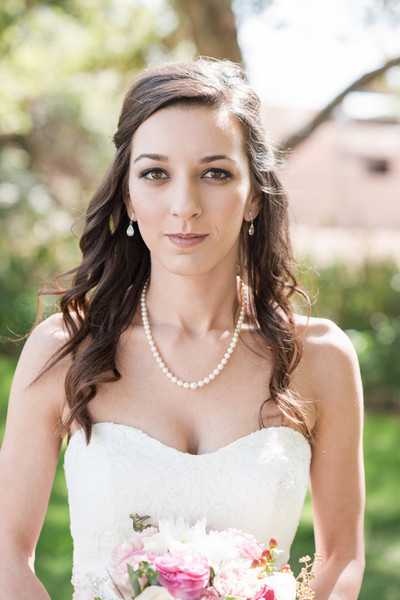Classic Romantic Arizona Bride makeup Garden Halfup Spring Wedding