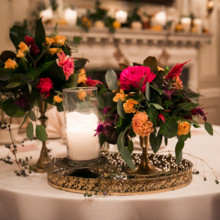 "<strong class='info-row'>Femina Photo + Design</strong> <div class='info-row description'><html>  <head></head>  <body>    The sweetheart table featured a lush arrangement of roses and dahlias set atop a gold vintage tray.  Venue:    <a href=""https://www.weddingwire.com/biz/dupont-country-club-and-brantwyn-estate-wilmington/4c1b5d56634cbc07.html"">Brantwyn Estate</a>  Floral Design:    <a href=""https://www.weddingwire.com/biz/a-garden-party-elmer/7f876b0ec1188a61.html"">A Garden Party</a>   </body> </html></div>"