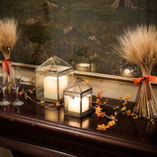"<strong class='info-row'>Femina Photo + Design</strong> <div class='info-row description'><html>  <head></head>  <body>    Another fall-themed touch: Sheaths of wheat and berries decorated a table in the reception space.   Venue:    <a href=""https://www.weddingwire.com/biz/dupont-country-club-and-brantwyn-estate-wilmington/4c1b5d56634cbc07.html"">Brantwyn Estate</a>  Floral Design:    <a href=""https://www.weddingwire.com/biz/a-garden-party-elmer/7f876b0ec1188a61.html"">A Garden Party</a>   </body> </html></div>"