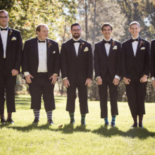 "<strong class='info-row'>Femina Photo + Design</strong> <div class='info-row description'><html>  <head></head>  <body>    The groom and his crew show off their snazzy striped socks.  Venue:    <a href=""https://www.weddingwire.com/biz/dupont-country-club-and-brantwyn-estate-wilmington/4c1b5d56634cbc07.html"">Brantwyn Estate</a>  Men's Attire: Calvin Klein from Men's Wearhouse  Floral Design:    <a href=""https://www.weddingwire.com/biz/a-garden-party-elmer/7f876b0ec1188a61.html"">A Garden Party</a>   </body> </html></div>"