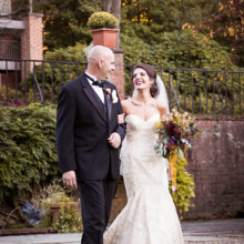 "<strong class='info-row'>Femina Photo + Design</strong> <div class='info-row description'><html>  <head></head>  <body>    The bride was positively beaming as she walked down the aisle, escorted by her proud dad.  Venue:    <a href=""https://www.weddingwire.com/biz/dupont-country-club-and-brantwyn-estate-wilmington/4c1b5d56634cbc07.html"">Brantwyn Estate</a>  Bride's Gown:    <a href=""https://www.weddingwire.com/wedding-photos/dresses/matthew-christopher"">Matthew Christopher</a> from    <a href=""https://www.weddingwire.com/biz/jennifers-hockessin/094d5a527d6af337.html"">Jennifer's</a>  Hair and Makeup: Saiko Beauty Bar and Salon  Floral Design:    <a href=""https://www.weddingwire.com/biz/a-garden-party-elmer/7f876b0ec1188a61.html"">A Garden Party</a>  Ceremony Music:    <a href=""https://www.weddingwire.com/biz/philadelphia-string-quartet-philadelphia/4f0cdaa87b881e8b.html"">Philadelphia String Quartet</a>   </body> </html></div>"