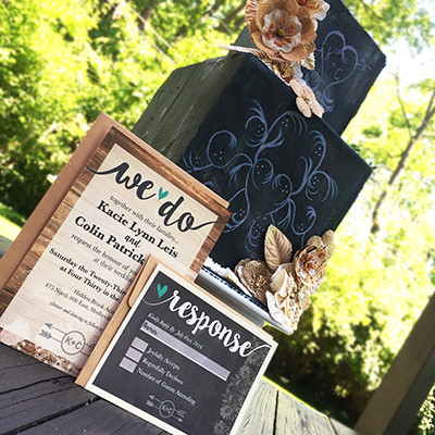1463678794646 Chalkboard Cake Indianapolis wedding invitation