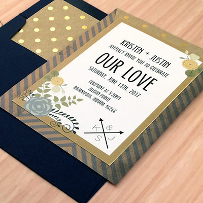 1464362437255 Gold Navy Invite Indianapolis wedding invitation