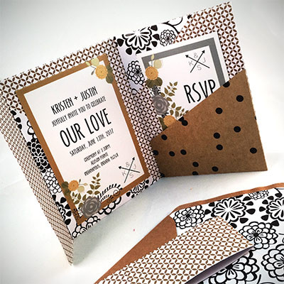 1464362460982 Tan Black White Indianapolis wedding invitation