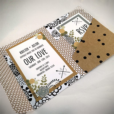 1464362467028 Tan Black White2 Indianapolis wedding invitation