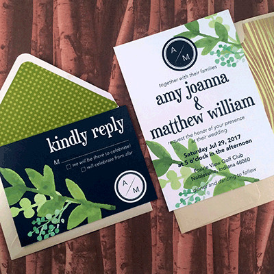 1465439396950 Greenery Navy Indianapolis wedding invitation