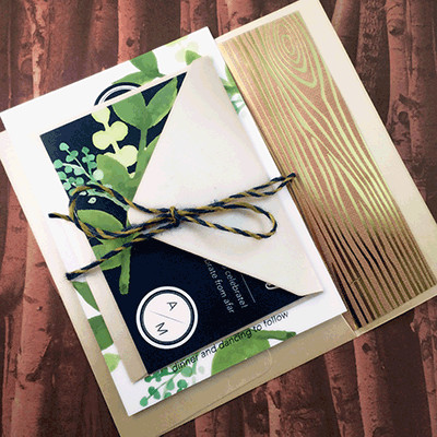1465439401366 Greenery Navy2 Indianapolis wedding invitation