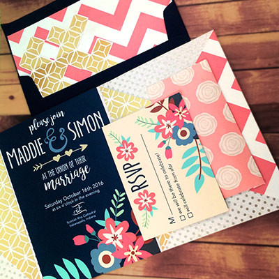 1465439425190 Navy Pink2 Indianapolis wedding invitation