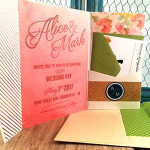 1473535187895 Coral Floral Pocket 2 Copy Indianapolis wedding invitation