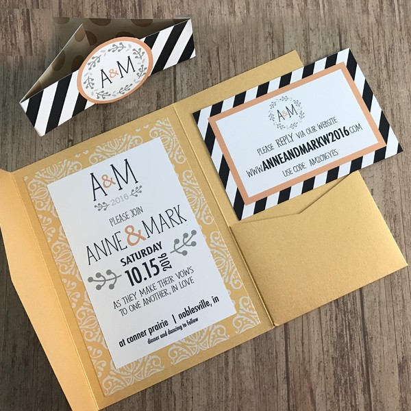 1476833685858 Navygoldmcm Indianapolis wedding invitation
