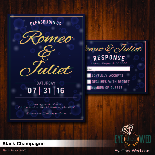 1481214285992 Black Champagne Indianapolis wedding invitation