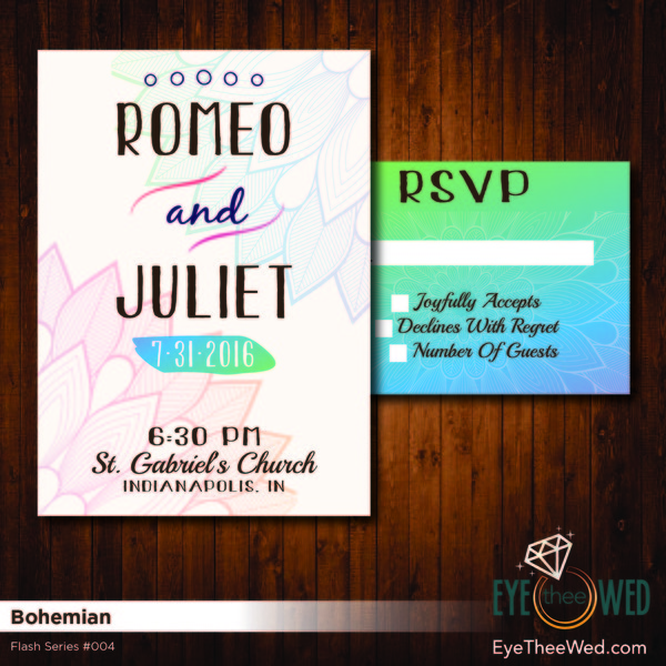 1481214305306 Bohemian Indianapolis wedding invitation