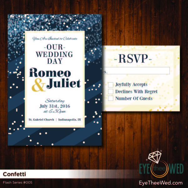 1481214322247 Confetti 01 Indianapolis wedding invitation