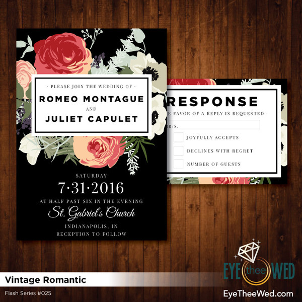 1481214382720 Vintage Romantic Indianapolis wedding invitation