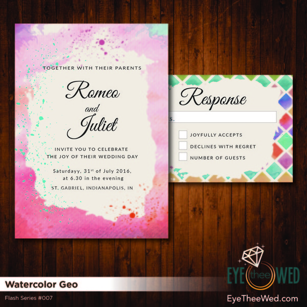 1481214390390 Watercolor Geo Indianapolis wedding invitation