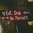 130x130 sq 1478980642 7deee2cd14815725 eat  drink and be married sign