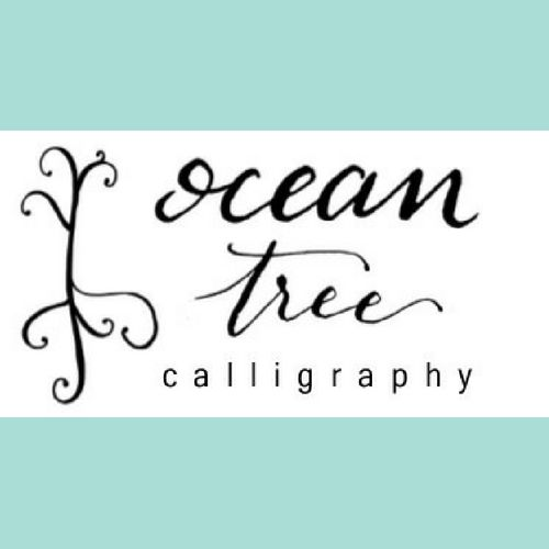 Ocean Tree Calligraphy Invitations Houston Tx