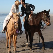 220x220 sq 1495313055472 wedding on horseback 2