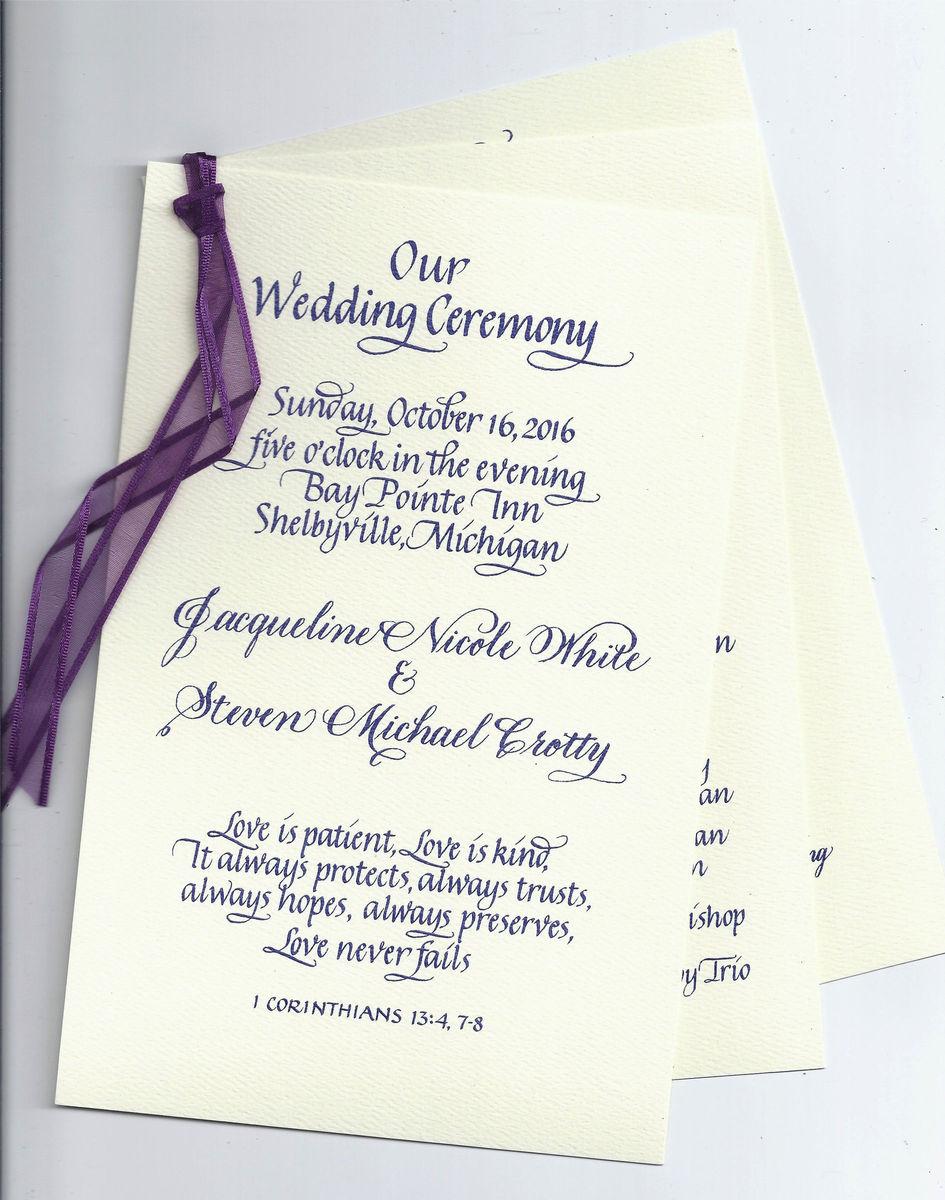 Gail\'s Calligraphy - Invitations - Chelsea, MI - WeddingWire