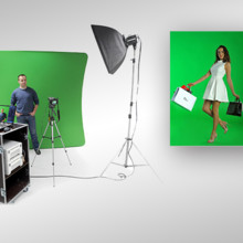 220x220 sq 1479450516868 megalux photo booth green screen