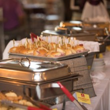 220x220 sq 1508728372021 ham sandwiches buffet line