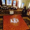 130x130 sq 1470241191086 custom monogram on dance floor at honey lake resor