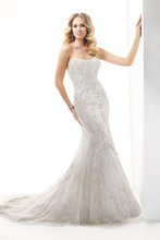 Tamsyn 4MC798 Bead embroidered lace on tulle featuring Swarovski crystals over Chic Organza.