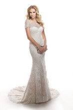 Chesney 4MS853JK  Corded lace on tulle over Valentina Satin. Optional bead embroidered tulle jacket featuring Swarovski crystals.