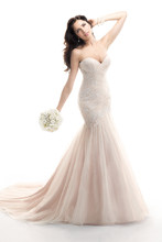 Haven 4MT892 Sequin embellished embroidery on tulle.