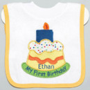 130x130 sq 1398913522835 my first bday bib and wash clot