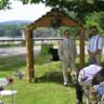 96x96 sq 1483976970542 banta wedding log arch lake back drop jars of flow