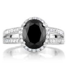 220x220 sq 1493312995189 carly s faux black diamond engagement ring 3 carat